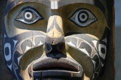 Détail d'un totem au musée d'anthropologie. (© Stéphan SZEREMETA)