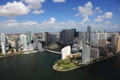 L'île artificielle de Brickell Key à Miami. (© Greater Miami Convention & Visitors Bureau www.gmcvb.com)