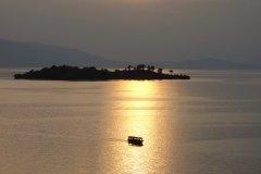 Coucher de soleil sur le lac Kivu. (© Sophie ROCHERIEUX)
