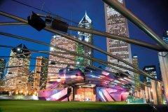 Le Jay Pritzker Pavilion dans le Millenium Park (© Patrick Warneka - Fotolia)