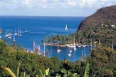 Bateaux de plaisance à Marigot Bay. (© Author's Image)