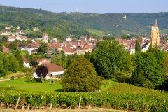 Le petit village d'Arbois. (© Philetdom)