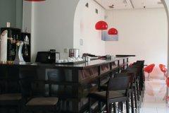 Café branché dans le centre-ville de Târgu Mureş (hôtel Concordia). (© Stéphan SZEREMETA)