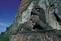 Le lion de Belfort (© PIERRE DELAGUERARD - ICONOTEC)