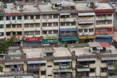 Vue sur des habitations de Sandakan le long de Jalan Leila (© Stéphan SZEREMETA)
