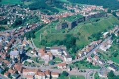 Survol de la citadelle de Bitche, vue aérienne (© ERWAN LE PRUNNEC - ICONOTEC)