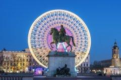 La statue de Louis XIV sur la place Bellecour. (© Prochasson Frederic / Shutterstuck.com)