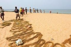 Pêcheurs sur la plage de Shanghumugham (© PATRICE ALCARAS)
