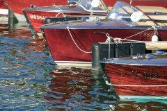 Le grand rassemblement européen de canots anciens, au petit port d'Aix-les-Bains (© Lionel MONTICO)