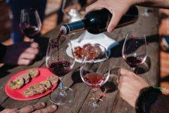 Apéritif improvisé dans les vignes. (© Laurent Pierson)