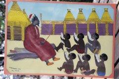 Peinture représentant une école coranique, Abkoon. (© Tom Pepeira - Iconotec)