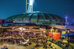 L'Esplanade Financière Sun Life est un parc urbain animé où se côtoient de nombreuses activités. (© PARC OLYMPIQUE)