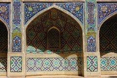 Détail de la façade principale de la madrasa Nadir-Divanbeg, ensemble Liab-i-Khaouz. (© Patrice ALCARAS)