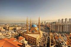 Vue sur Beyrouth et la mosquée Muhammad al-Amîn. (© Ramzihachicho - iStockphoto)