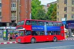 Un petit air londonien: Skopje a renoué avec les bus à impériale, comme dans les années 1930. (© Martyn Jandula - Shutterstock.com)