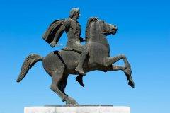 Statue d'Alexandre le Grand, à Thessalonique (Macédoine grecque). (© YK - Fotolia)