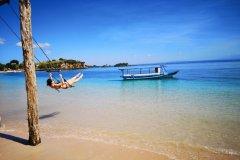 Pink Beach, sur l'île de Lombok. (© Cécile Villard)