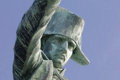 La statue de bronze de Napoléon Ier à Cherbourg-Octeville. (© Franck GODARD)