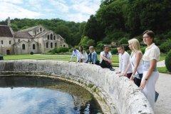 Jardin Abbaye de Fontenay. (© Côte-d'Or tourisme)