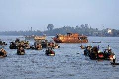 Delta du Mekong, marché flottant. (© Yukiko Yamanote - Iconotec)