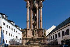 Colonne de la grande peste sur la place de la Sainte-Trinité. (© PHB.cz - Fotolia)