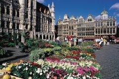 Le marché aux fleurs sur la Grand-Place. (© Henri Conodul - Iconotec)