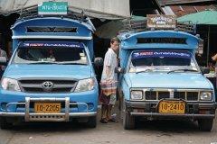 Taxis aux abords du marché central de Chiang Rai. (© Jérôme BOUCHAUD)