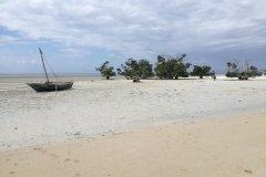 Quirimba et sa plage à marrée basse. (© Elisa Vallon)
