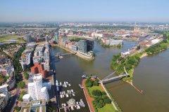 Vue aérienne de Düsseldorf. (© Tupungato  - iStockphoto)