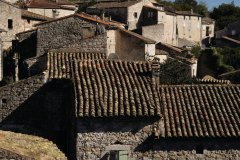 Vue sur les toits de Balazuc. (© curtoicurto)