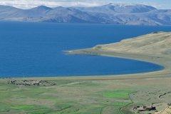 Plateaux du Changtang au lac Tsomoriri. (© Eric Martin - Iconotec)