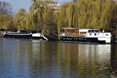 Peniches sur la Seine, à Chatou (© JEAN-MICHEL LECLERCQ - FOTOLIA)