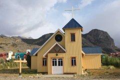 La jolie petite église d'El Chaltén. (© Pierre-Yves SOUCHET)