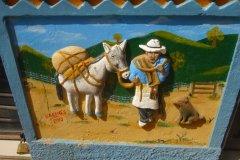 Image traditionnellle du caféiculteur avec sa mule. (© Nicolas LHULLIER)
