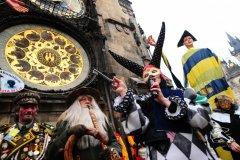 Carnaval de Prague dans la vieille ville. (© BOHEMIAN CARNAVALE)