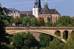 Pont Adolphe et cathédrale Notre-Dame de Luxembourg. (© Philippe GUERSAN - Author's Image)