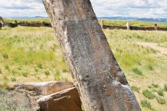 Les monolithes massifs du Kourgane du Grand Salbyk faisaient 22 à 27 et pesaient jusqu'à 70 tonnes! (© Khakasia Tourist Information Centre)