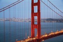 Golden Gate Bridge au crépuscule. (© Stéphan SZEREMETA)