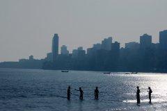 Coucher de soleil, plage de Chowpatty. (© Pascal Mannaerts - www.parcheminsdailleurs.com)