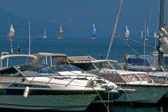 Port de plaisance d'Aix-les-Bains, sur le lac du Bourget (© PAULETTE RICHARD - ICONOTEC)