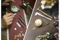 Restauration d'une montre et d'une pendule. (© ATELIER D'HORLOGERIE - VASSORT & JOUBERT)