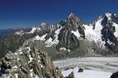Le glacier d'Argentière dans le massif du Mont Blanc (© Bergfee - Fotolia)
