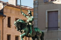 La statue équestre de René II, vainqueur de la bataille de Nancy (© Stéphane Belin)