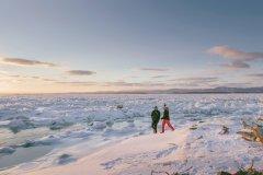 Le Saint-Laurent sous la glace à Berthier-sur-Mer. (© Stéphanie Allard)