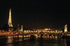 Panorama sur la Seine de nuit (© Stéphan SZEREMETA)