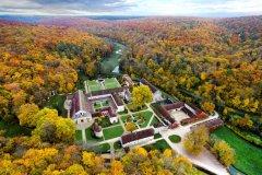 Vue d'automne Abbaye de Fontenay. (© Dupin)