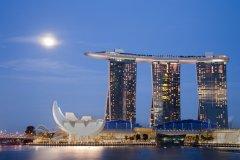 Marina Bay Sands, énorme complexe hôtelier de Singapour. (© Paulus NUGROHO)