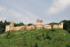 La citadelle de Saschiz en restauration grâce aux actions de la région pour la sauvegarde de son patrimoine historique. (© Stéphan SZEREMETA)