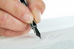 Signature (© Eisenhans - Fotolia)