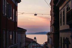 Coucher de soleil depuis via Giacomo Ciamician. (© Arthur VINCENT - www.flickr.com/photos/artvincent)
